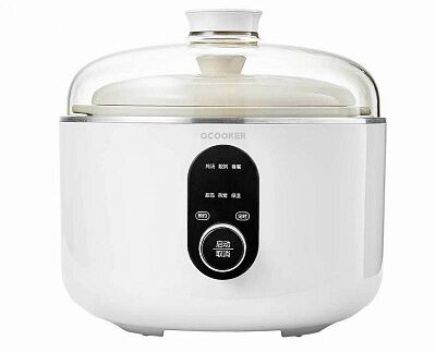 Мультиварка - пароварка Xiaomi Qcooker Round Small Stew Electric Cooker 4L (White/Белый)